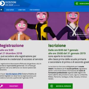 Informazioni per ISCRIZIONI ONLINE alunni delle future classi PRIME a.s. 2019/2020